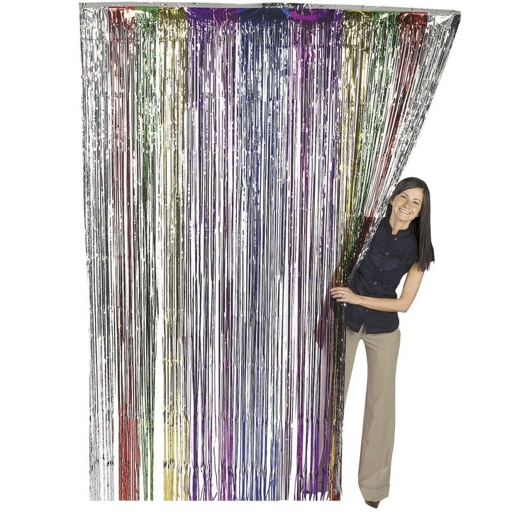 3'x8' ft RAINBOW Party Curtain Metallic Fringe Foil Shimmer Birthday Decoration #ifavor123 #BirthdayAdult
