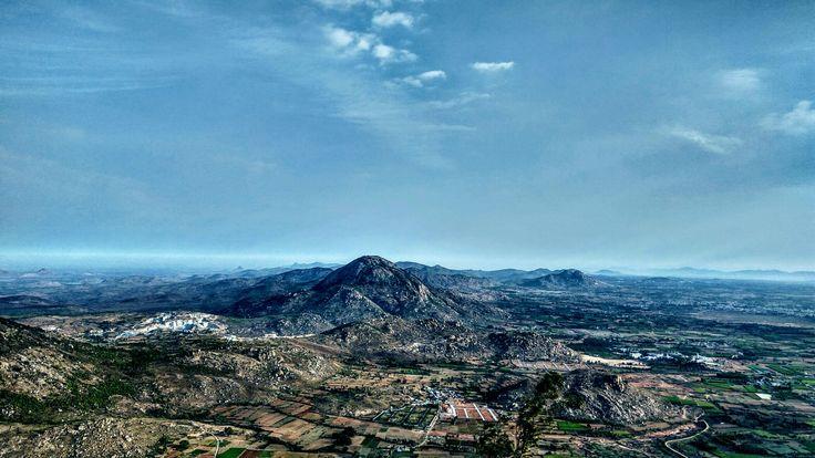 Nandi Hill view, Bangalore, Karnataka.