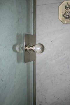 Custom Shower Door Handle, Polished Nickel - modern - bath products - Wilmette Hardware