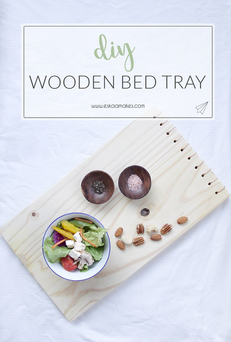 How to make: wooden tray with copper detail