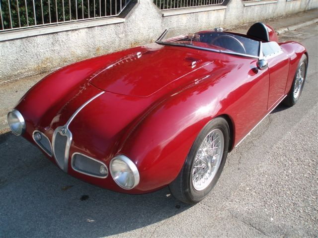 Alfa Romeo 1900 Barchetta 1953         A Red Barchetta.....reminds me of a song by Rush.