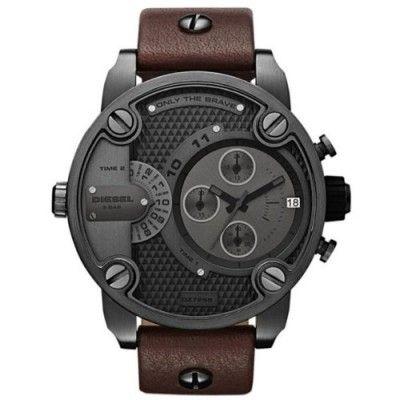 Relógio Diesel SBA Only The Brave Brown Dial Men's Watch - DZ7258 #Relogios #Diesel