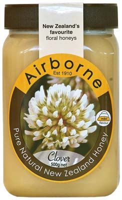 Clover Honey - 500gm - Airborne Honey | Shop New Zealand NZ$17.90