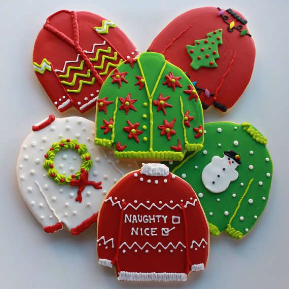 These Ugly Christmas Sweater Cookies Add to One's Holiday Party #food trendhunter.com