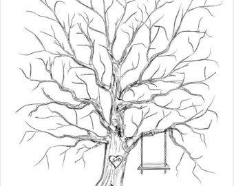 Pulgar árbol huésped libro alternativa de la boda, árbol de la boda libro de visitas de la huella digital libro de visitas único Original boda recuerdo personalizado regalo de boda