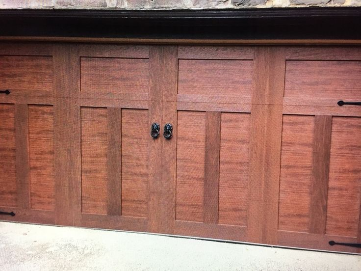 17 best images about canyon ridge on pinterest for Composite garage doors that look like wood