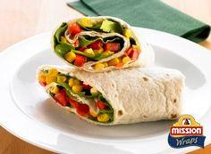 #missionwraps #wraps #food #inspiration #meal #salad #corn #fresh #vegetables www.missionwraps.es
