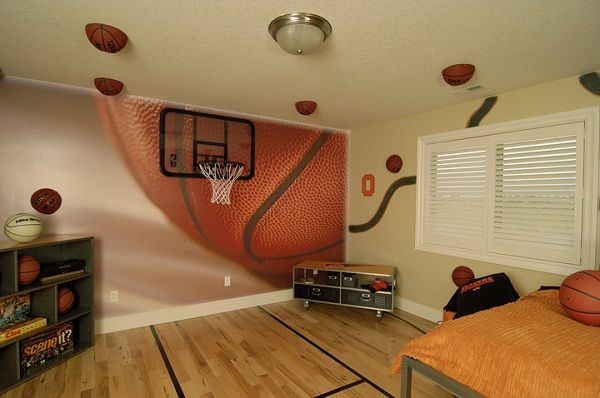 Wallpaper Murals for Boys Bedroom Choosing a Basketball ...