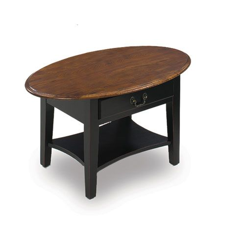 Slate Coffee Table With Drawers: Leick Furniture Slate Oval Coffee Table