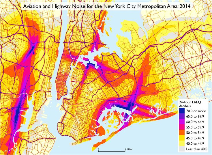 DOT releases first-ever noise map of the United States. Seen here: NYC noise map. (Courtesy U.S. Department of Transportation)