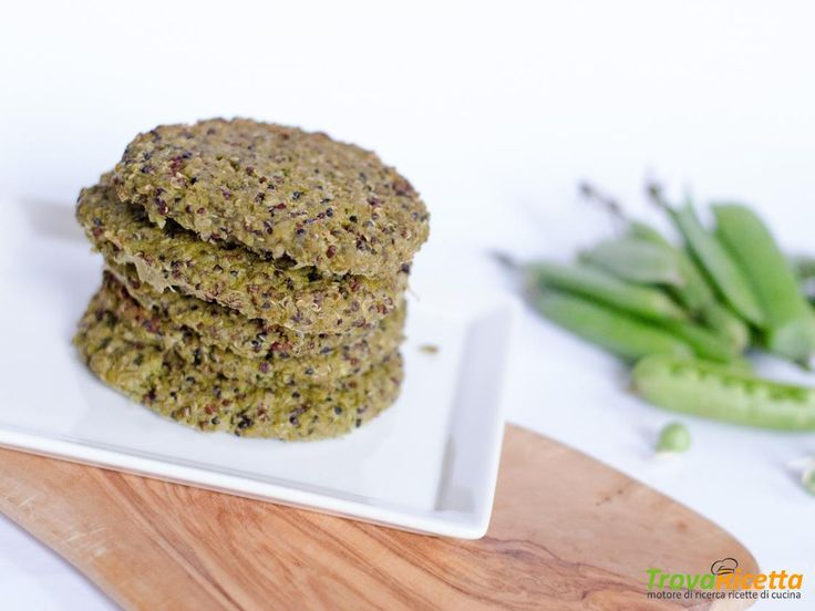 Burger proteici di quinoa e piselli  #ricette #food #recipes
