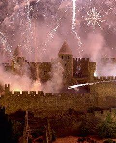 14th of July fireworks at la Cité de Carcassonne!