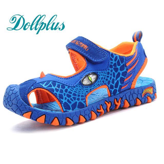 children summer shoes 3D dinosaurs fashion boys sandals cut out non-slip beach kids