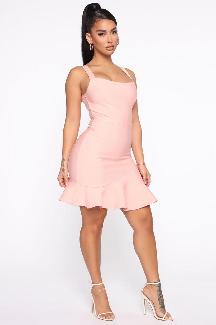 Blair Bandage Mini Dress Pink Mini dress, Fashion nova