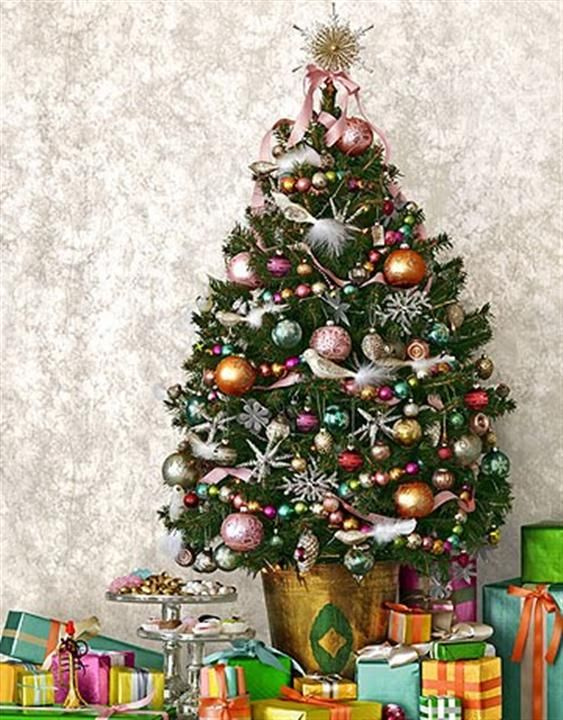 163 best MINATURE CERAMIC XMAS TREES  ETC images on Pinterest - how to decorate a small christmas tree