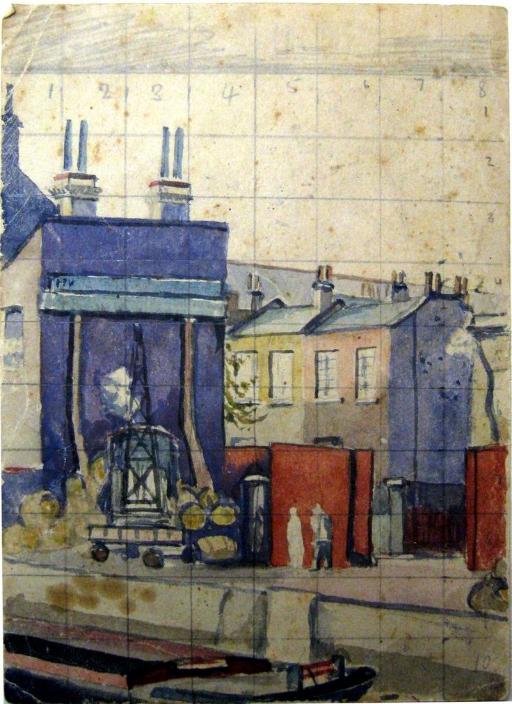 Sketch for Five Bells Wharf by Walter Steggles