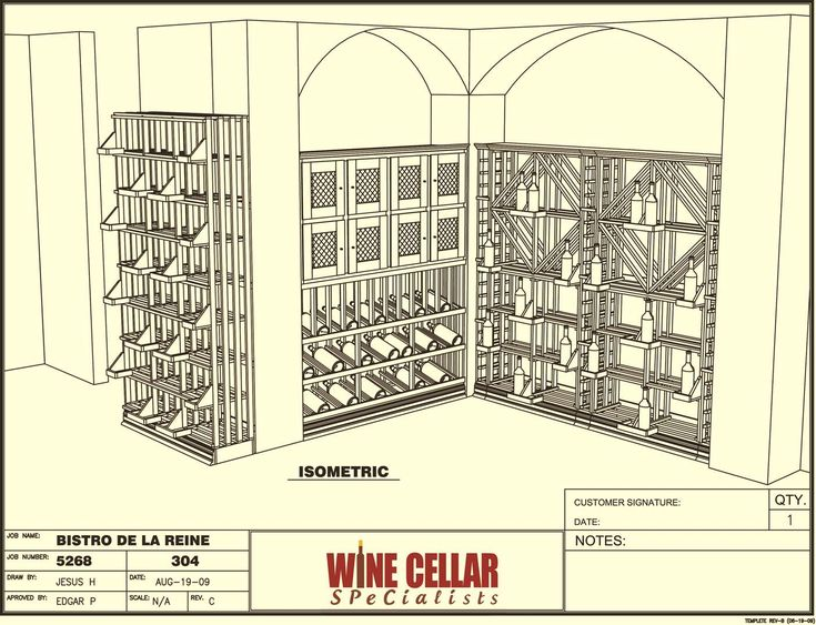 Plan View - Wine Store design Layout Bistro-de-la-reine Louisiana