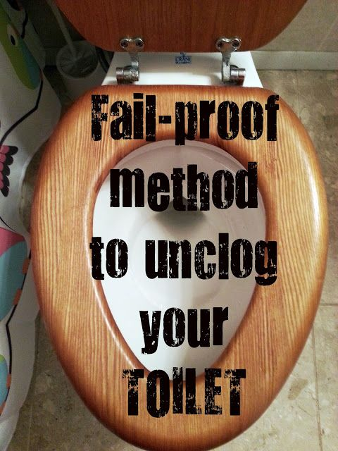 How to unclog your toilet with products you already have; We have two toilets in our house with bad pipes that tend to clog a lot.  This works!