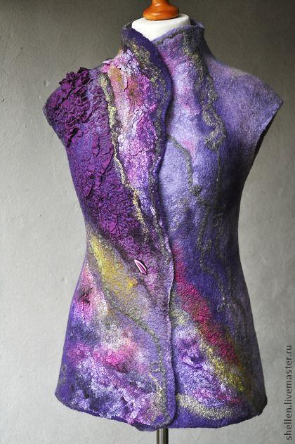 Nuno Felting vest . Handmade.