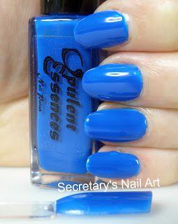 Secretary`s Nail Art: Opulent Essences - Taste The Rainbow Collection - Blueberry