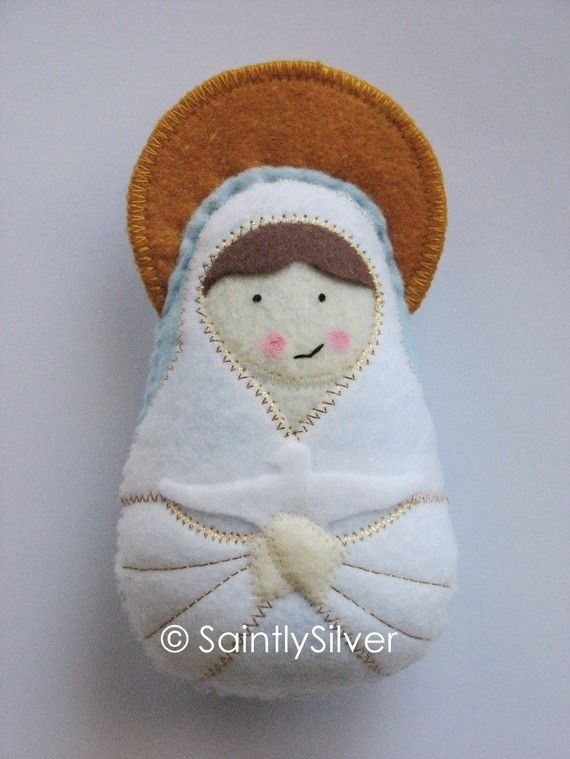 Our Lady Queen of Peace Felt Saint Softie by SaintlySilver on Etsy, $18.00