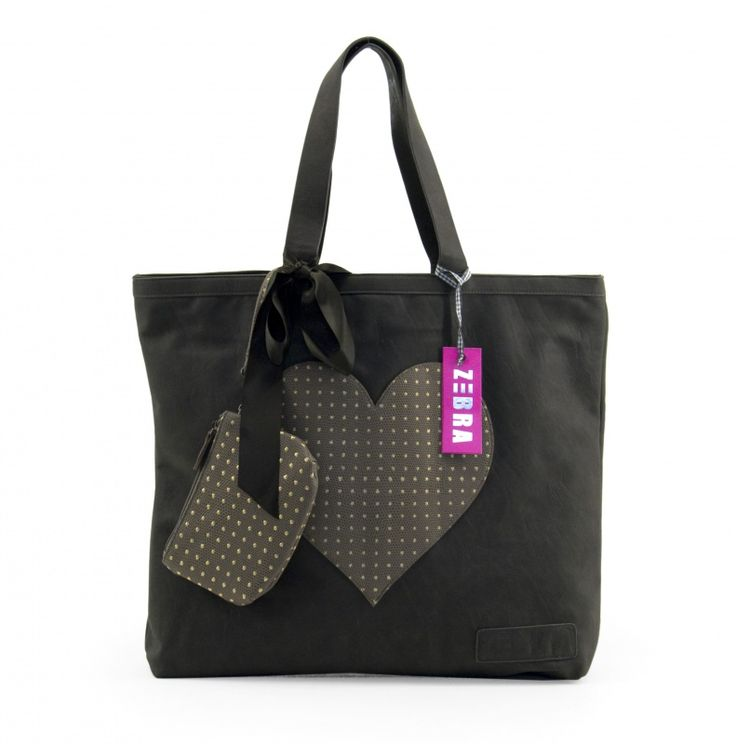 Zebra Trends Natural Bag kleur stone ( is iets lichter dan zwart) | Tassen | Hippe Girls!