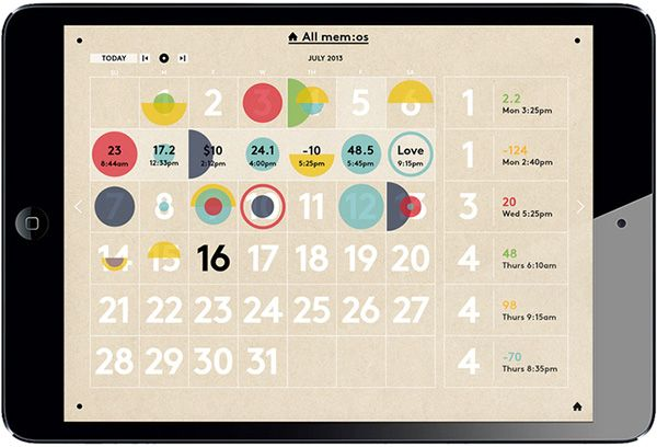 memo_app makes tracking, logging and analysing your quantified-self activities a compelling visual experience.