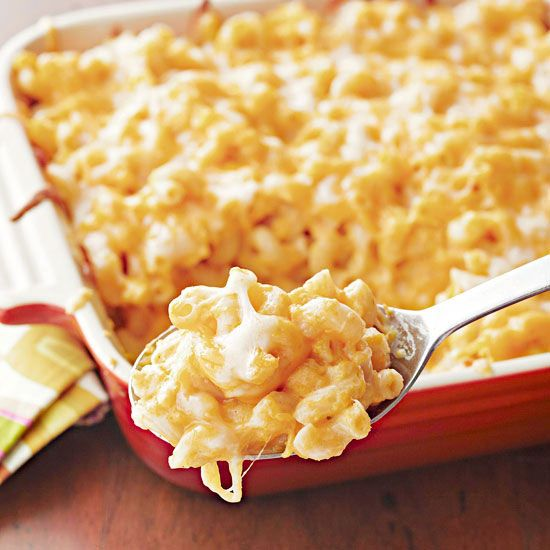 Our Four-Cheese Butternut Squash Macaroni & Cheese is one mac and cheese recipe you can feel good about. (Finally!) More healthy casserole recipes: http://www.bhg.com/recipes/quick-easy/make-ahead-meals/healthy-casserole-recipes/ #myplate