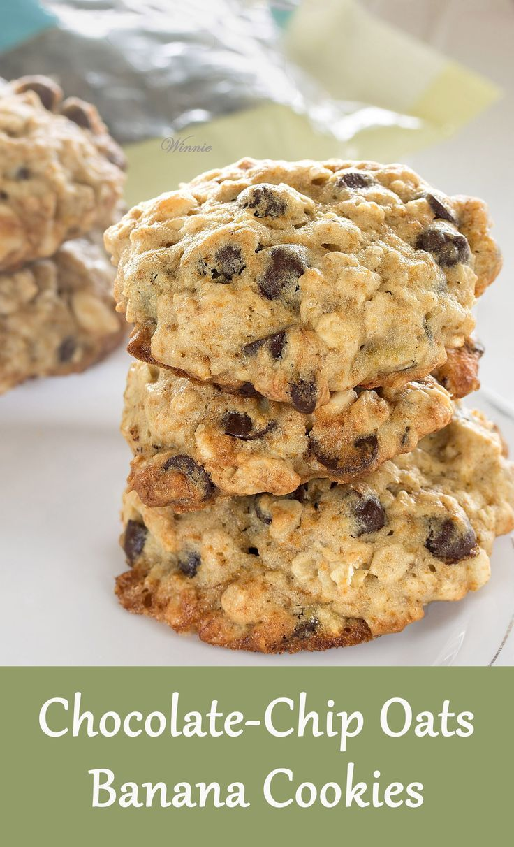 chip oats banana cookies banana oatmeal cookies chocolate chip cookies ...