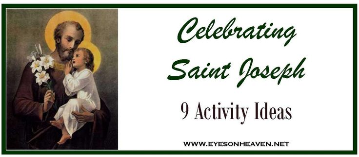 Family ideas for celebrating St. Joseph's feast days (March 19, May 1)!