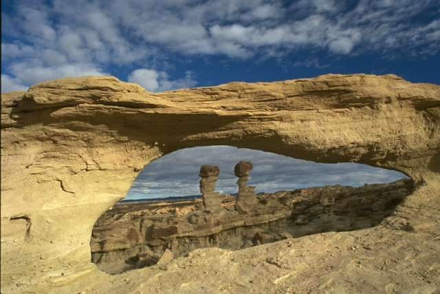 Ischigualasto National Parks, La Rioja prov, Argentina. Spectacular desert region on the western border of the Sierra Pampeanas of central Argentina. Fossils from the Triassic Period (245-208 million years ago).