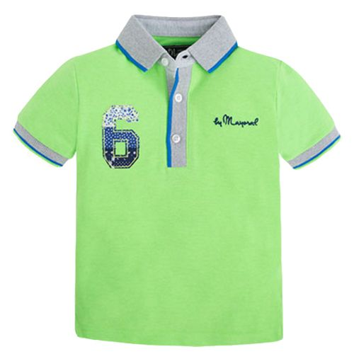 Polo mc con applique