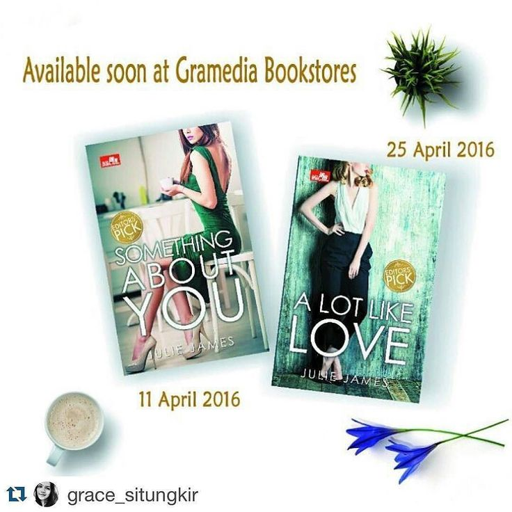 From @juliejamesauthor -  Lovely #repost via @grace_situngkir -- New covers on the Indonesian translations of my books. Love them! @elexmedia  #books #bookstagram #Regrann