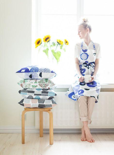 Sunnuntai apron & cushion covers - Kauniste