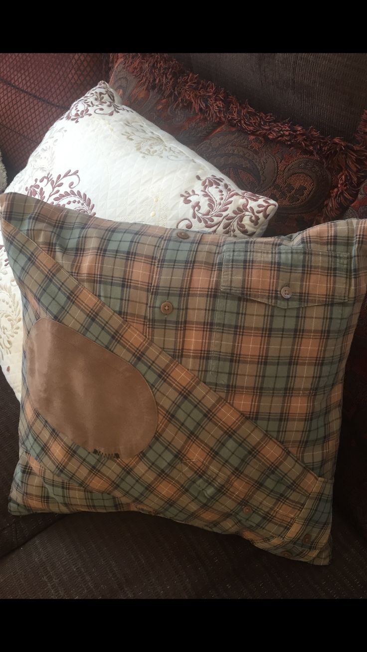 Memory Pillow From Old Shirt Of Someone That Passed Away