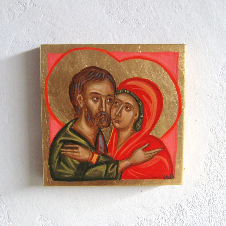 The latest addition to my #etsy shop: Byzantine icon of Saint Joachim and Anne Valentines day couples gift Holy Anna Joaquim parents of Mary Spousal love contemporary painting http://etsy.me/2CJeFs5 #art #painting #gold #spousallove #valentinesday #val