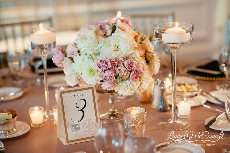 What a beautiful & romantic setting on this table scape! We love the neutral Champagne  and Ivory tones