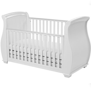 BEL Sleigh Cot Bed UK   BEL Sleigh Cot Bed with Drawer   BEL Sleigh Baby Cots Mattress – Babymore