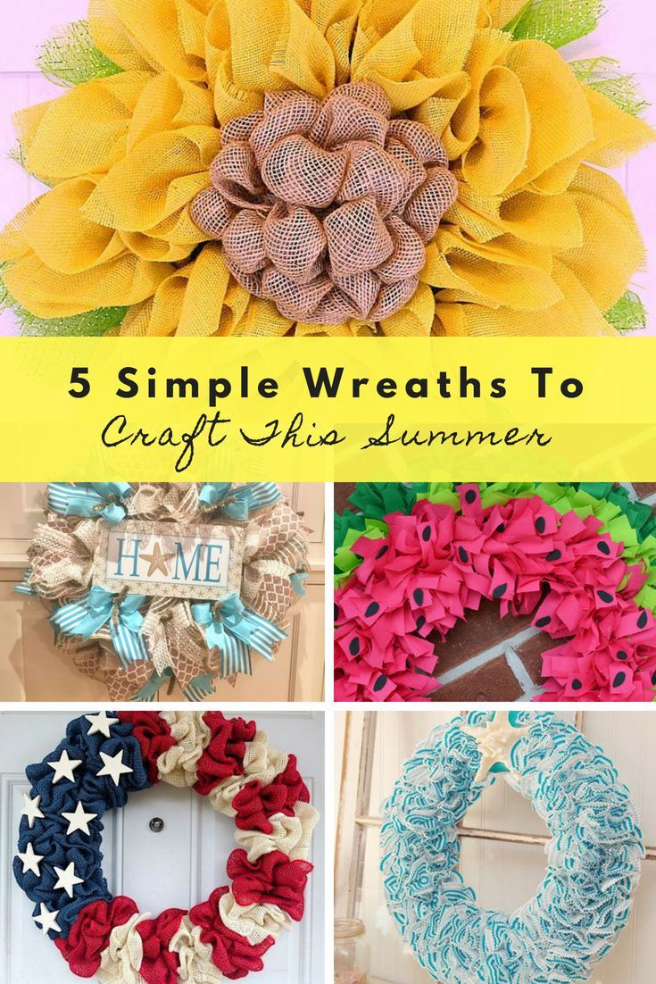 5 simple wreaths to craft this summer share your blog ladies group 5 simple wreaths to craft this summer share your blog ladies group pinterest project ideas wreaths and community solutioingenieria Gallery