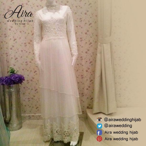 Weddingdress/7/2015/Airaweddinghijab #Airaweddingdress