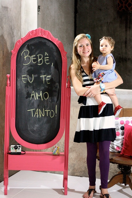 Well that chalk board would just be cool to have for office events. Stand up mirror and chalkboard paint!