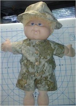 CABBAGE PATCH CAMO hunting outfit handmade for 16 by QUILTSRUS08