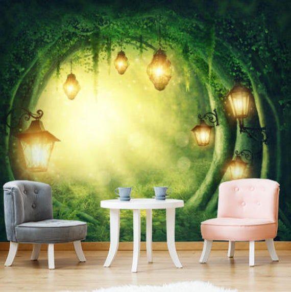 Magic Green Forest Tunnel 2 5m X 2 5m 3d Fairy Tale Wall Sticker