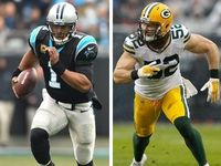 Carolina Panther quarterback Cam Newton and Green Bay Packers linebacker Clay Matthews provided a great on-field back-and-forth early in the game Sunday.