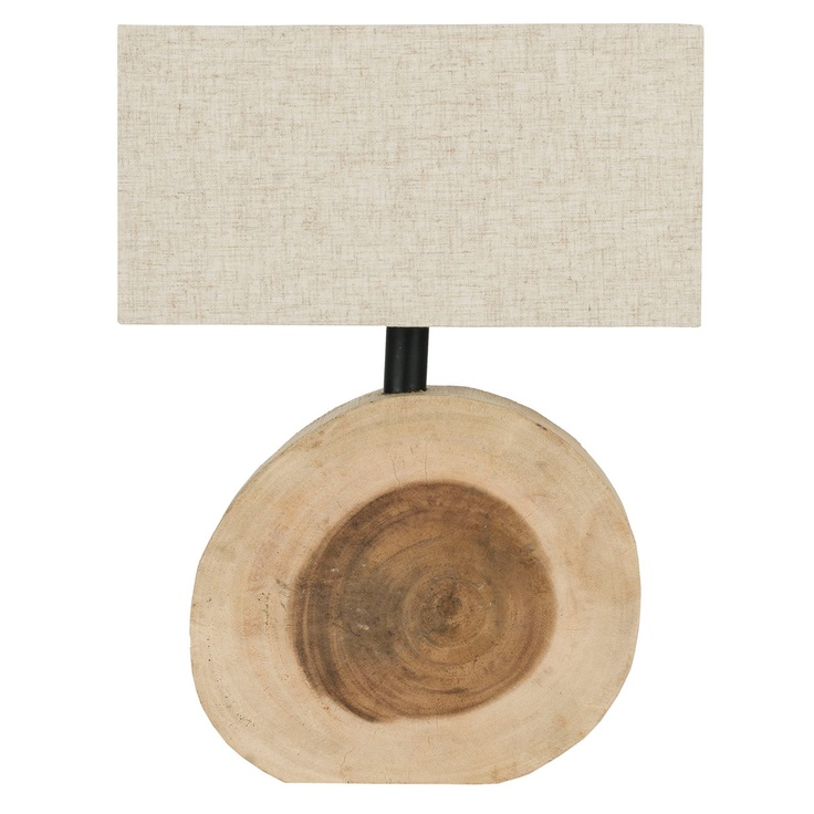 Circular Natural Table Lamp by Safavieh