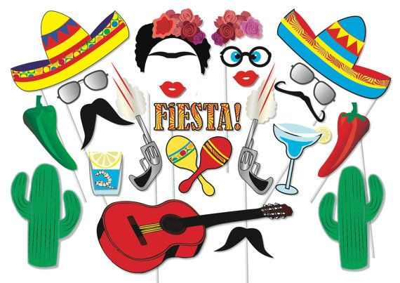 Here is the ultimate collection of Mexican Fiesta photo booth props! Tons of Fun!! Great for a table centrepiece or Photo booth! Contains 22