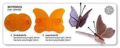 Jem Set di 2 farfalle animale Glassa Cutter Taglio Sugarcraft Torta Decorazione