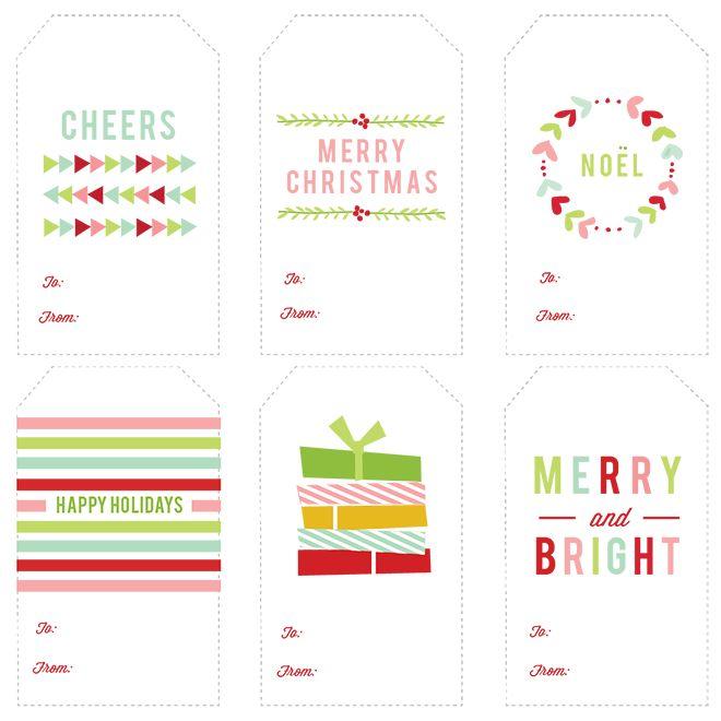 imprimible etiquetas regalo navidad