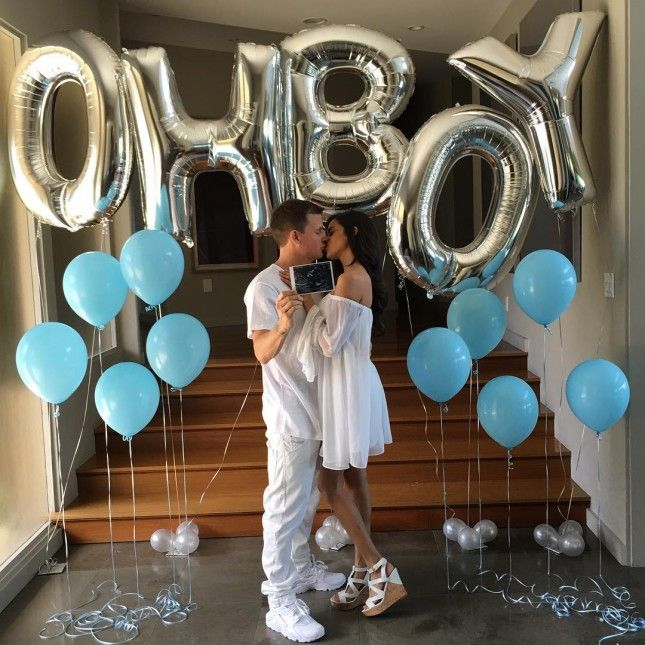 This Star + His Model Wife's Creative Gender Reveal Is SO Instagrammable via Brit + Co