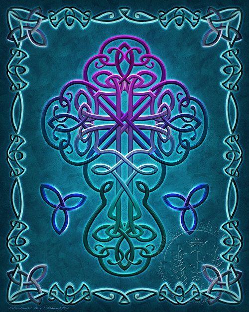 enchantedtigress:  Celtic Cross Christian - Art Print - Brigid Ashwood (via Pinterest)